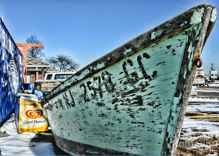 Paul Ward Greeting Card featuring the photograph Boat - In A State Of Decay by Paul Ward