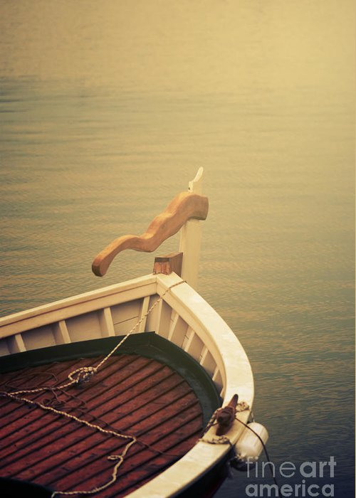 Water Greeting Card featuring the photograph Boat by Jelena Jovanovic
