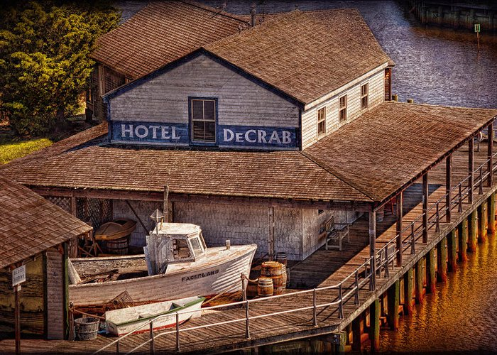 Hdr Greeting Card featuring the photograph Boat - Tuckerton Seaport - Hotel Decrab by Mike Savad
