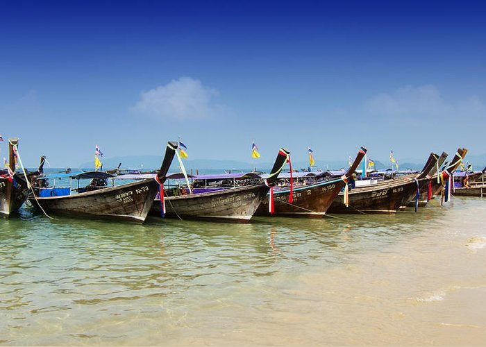 Boats Greeting Card featuring the photograph Boats In Thailand by Zoe Ferrie