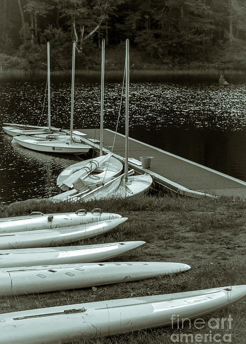 Water Greeting Card featuring the photograph Boats by Isabelle Morley
