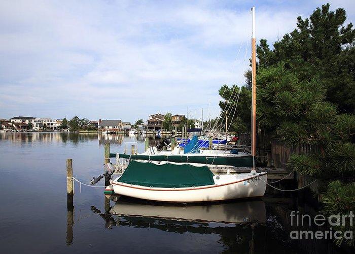 Boats Of Long Beach Island Greeting Card featuring the photograph Boats Of Long Beach Island Color by John Rizzuto