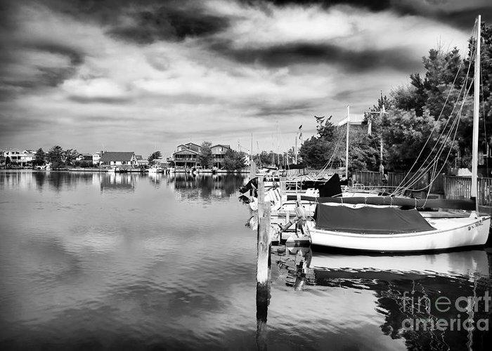 Boats Of Long Beach Island Greeting Card featuring the photograph Boats Of Long Beach Island by John Rizzuto