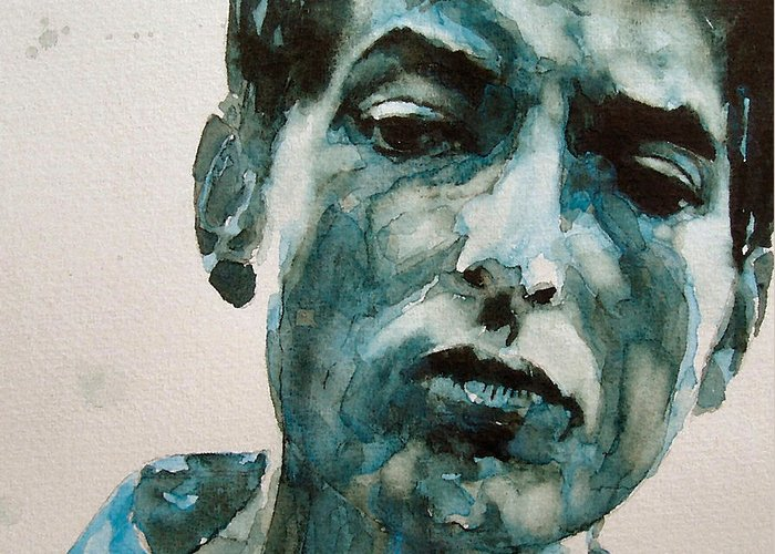 Bob Dylan Greeting Card featuring the painting Bob Dylan by Paul Lovering