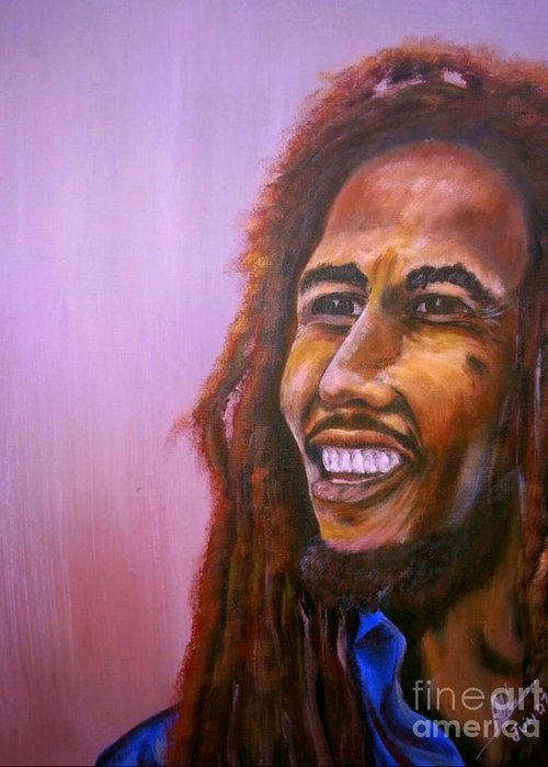Bob Marley Artwork Greeting Cards