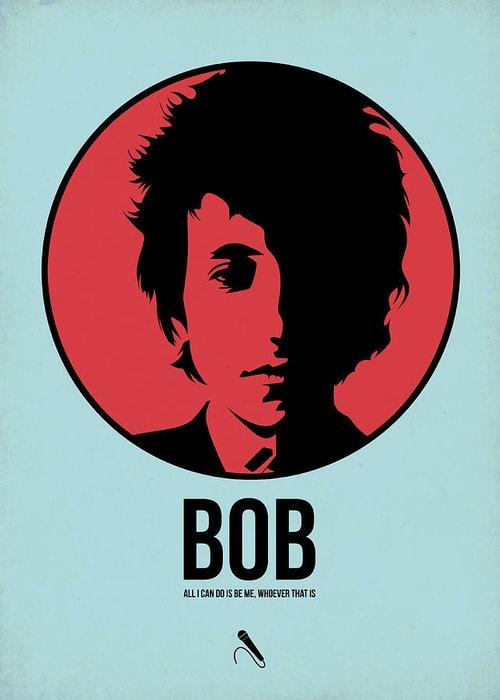Music Greeting Card featuring the digital art Bob Poster 2 by Naxart Studio
