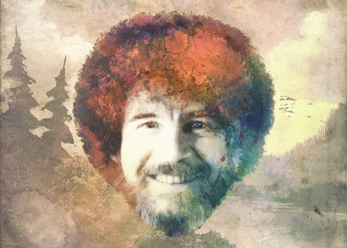 Bob Ross Greeting Card For Sale By Filippo B