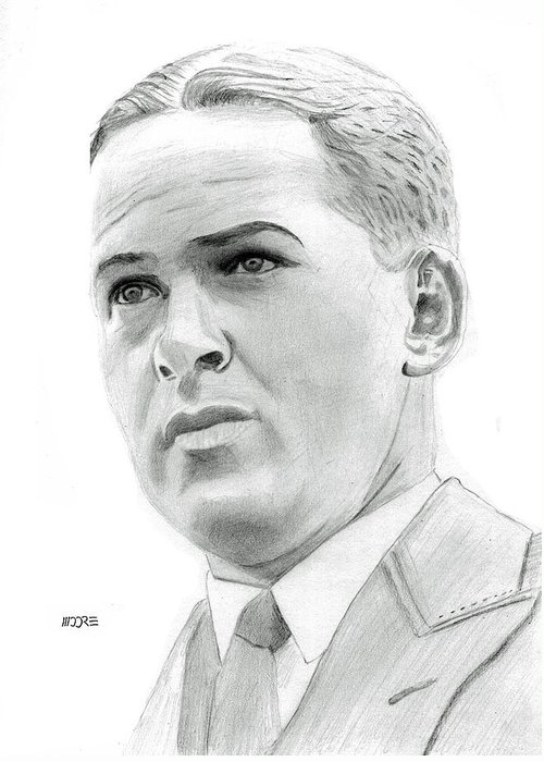 Robert Tyre Jones Greeting Card featuring the drawing Bobby Jones by Pat Moore