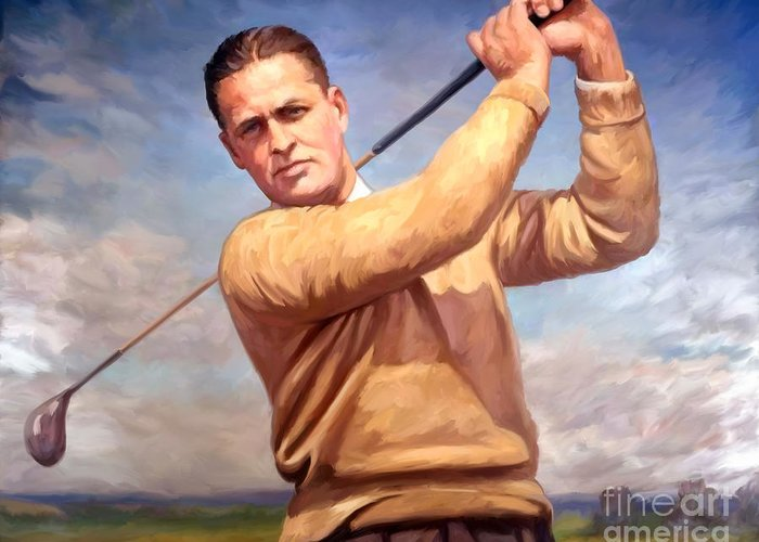 Bobby-jones Greeting Card featuring the painting bobby Jones by Tim Gilliland