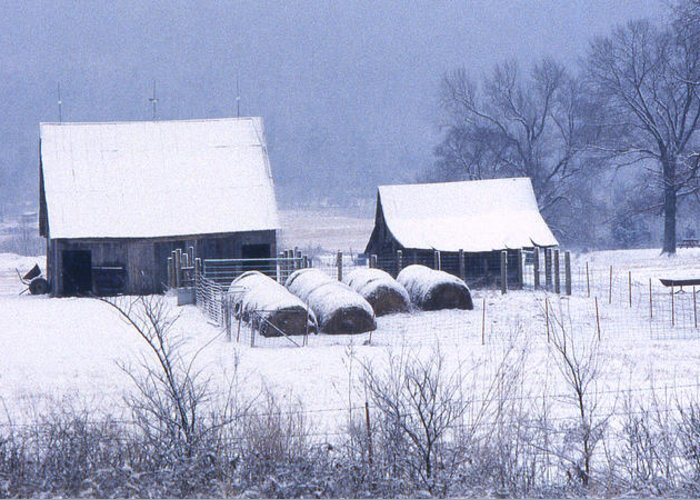 Ozarks Greeting Card featuring the photograph Bobby's Barn by Garry McMichael