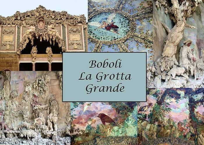 Boboli La Grotta Grande Greeting Card featuring the photograph Boboli La Grotta Grande 1 by Ellen Henneke