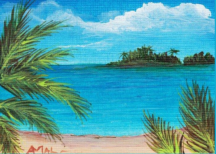 Interior Greeting Card featuring the painting Boca Chica Beach by Anastasiya Malakhova