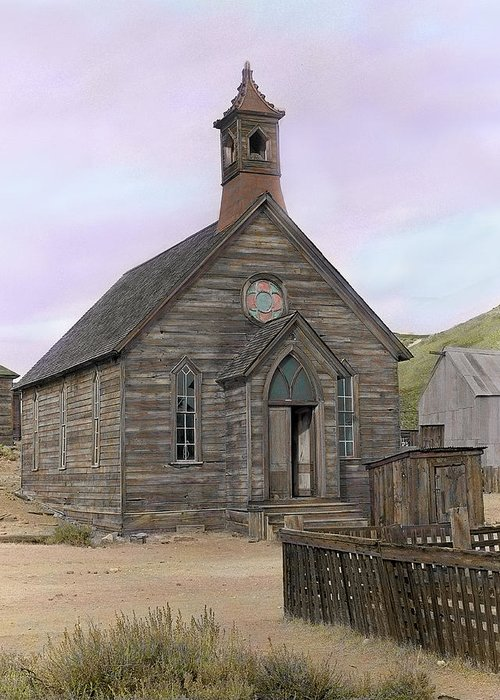 Bodie Greeting Card featuring the photograph Bodie Church by Mel Felix