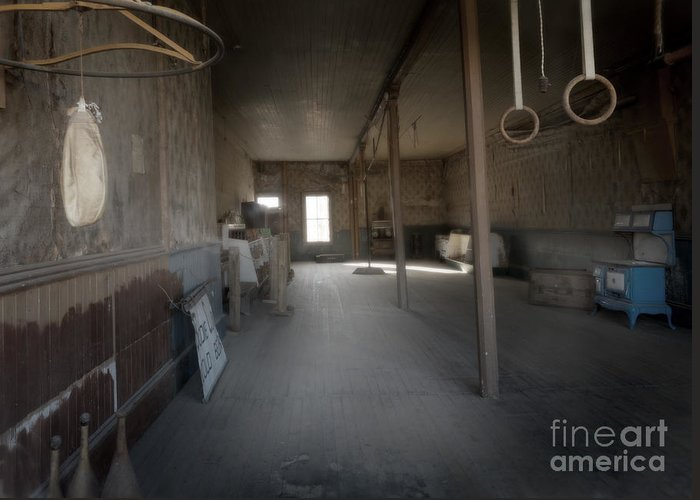 Kevin Felts Greeting Card featuring the photograph Bodie Gym by Kevin Felts