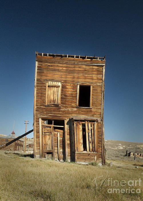 Kevin Felts Greeting Card featuring the photograph Bodie Leaner by Kevin Felts