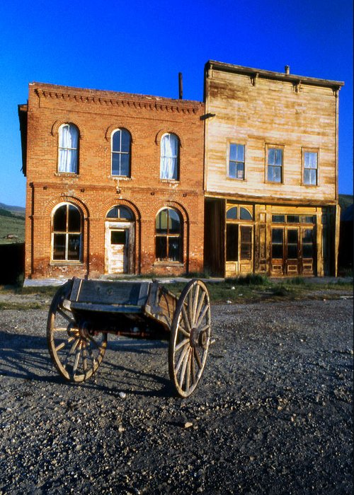 Storefronts Greeting Card featuring the photograph Bodie Storefront by Joe Darin