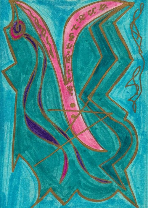 Healing Imprint Greeting Card featuring the mixed media Body Zero # 8 by Clarity Artists