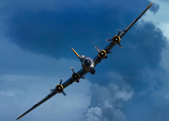 3scape Greeting Card featuring the photograph Boeing B-17 Flying Fortress by Adam Romanowicz