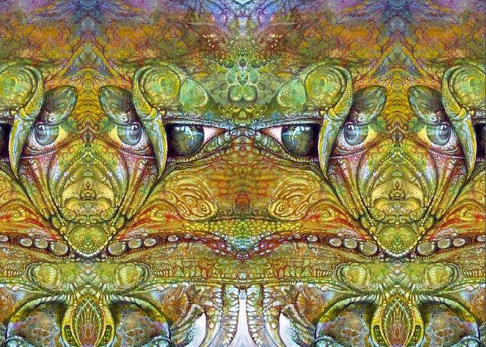 \bogomil Variations\ \otto Rapp\ \ Michael F Wolik\ Greeting Card featuring the digital art Bogomil Variation 12 by Otto Rapp