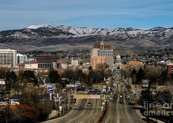 City Greeting Card featuring the photograph Boise Idaho by Robert Bales