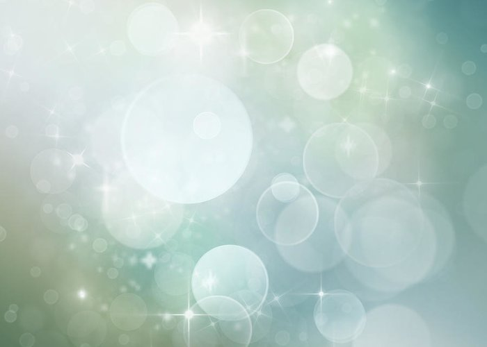 Greeting Card featuring the digital art Bokeh Background by Mythja Photography