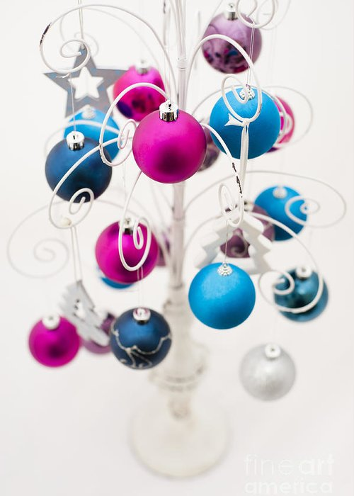 Alternative Greeting Card featuring the photograph Bold Baubles by Anne Gilbert