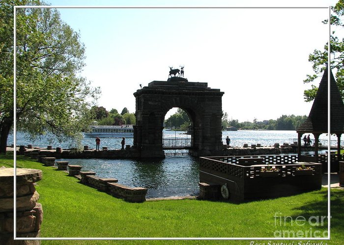 Boldt Castle Greeting Card featuring the photograph Boldt Castle Entry Arch by Rose Santuci-Sofranko