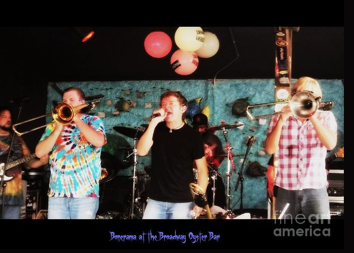 Greeting Card featuring the photograph Bonerama At The Broadway Oyster Bar 2 by Kelly Awad