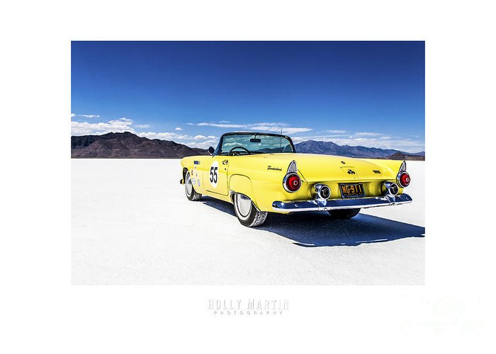 Antique Automobile Greeting Card featuring the photograph Bonneville T-bird by Holly Martin