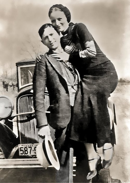 bonnie And Clyde Greeting Card featuring the photograph Bonnie And Clyde - Texas by Daniel Hagerman