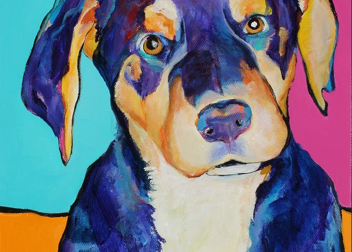 Pat Saunders-white Greeting Card featuring the painting Boone by Pat Saunders-White