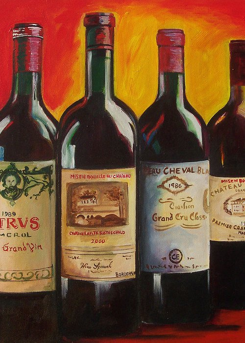Wine Painting Greeting Card featuring the painting Bordeaux by Sheri Chakamian