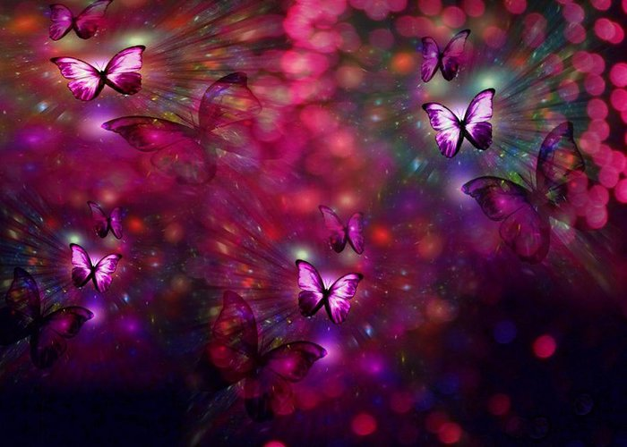 Butterflies Greeting Card featuring the digital art Born Again by Jewell McChesney