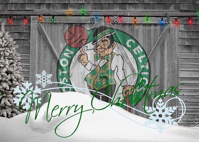 Celtics Greeting Card featuring the photograph Boston Celtics by Joe Hamilton