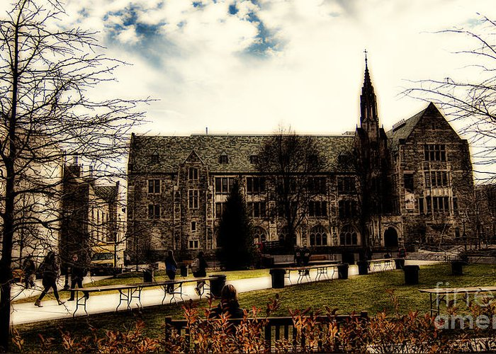 C Greeting Card featuring the photograph Boston College by Douglas Barnard