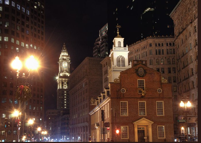 Old State House Greeting Card featuring the photograph Boston History by Joann Vitali