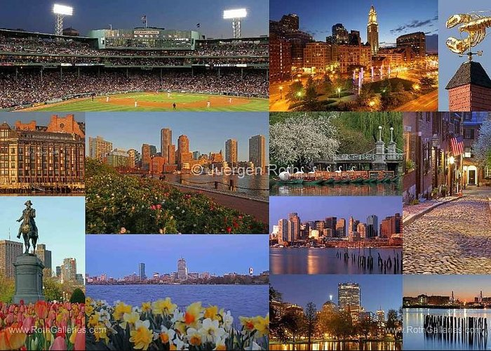 Fenway Park Greeting Card featuring the photograph Boston Landmarks Photography by Juergen Roth
