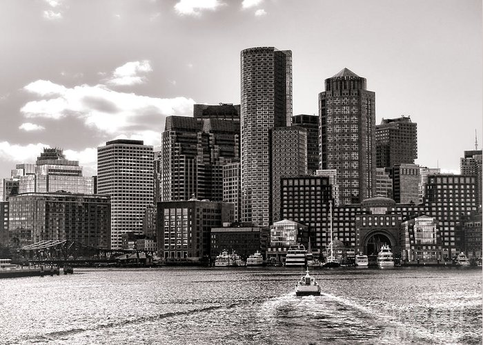 Boston Greeting Card featuring the photograph Boston by Olivier Le Queinec