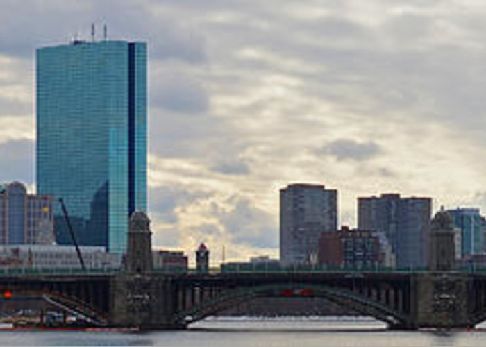 Boston Greeting Card featuring the photograph Boston Skyline by Meandering Photography