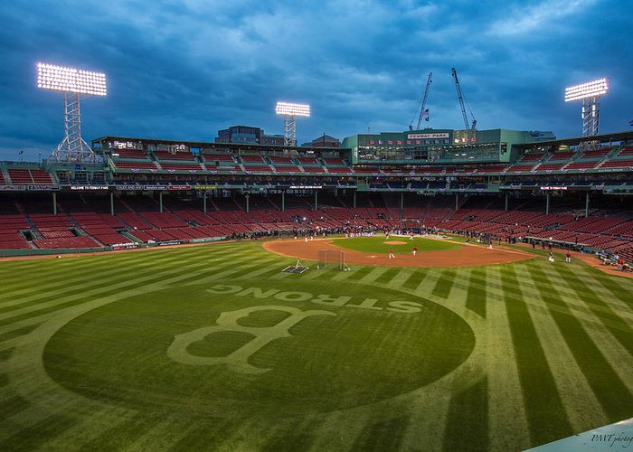 Fenway Park Greeting Card featuring the photograph Boston Strong by Paul Treseler
