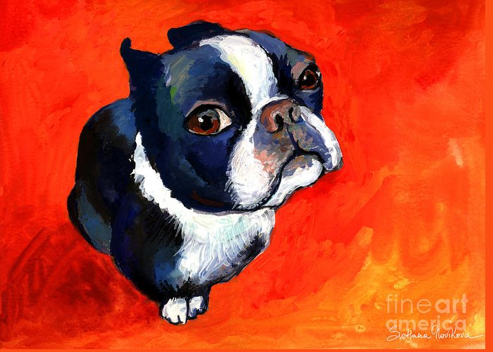 Custom Pet Portrait Austin Greeting Cards