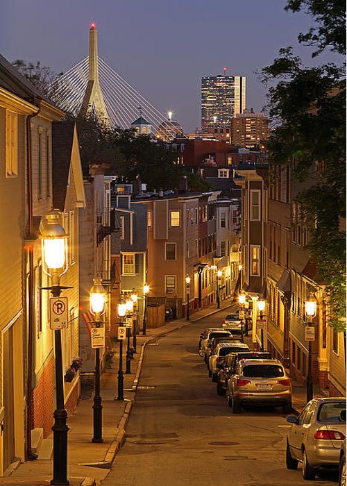 Charlestown Greeting Card featuring the photograph Boston View From Charlestown by Juergen Roth