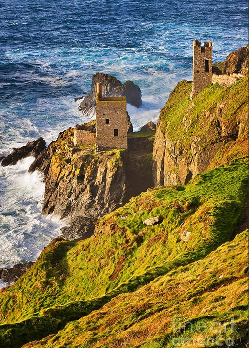 Travel Greeting Card featuring the photograph Botallack by Louise Heusinkveld