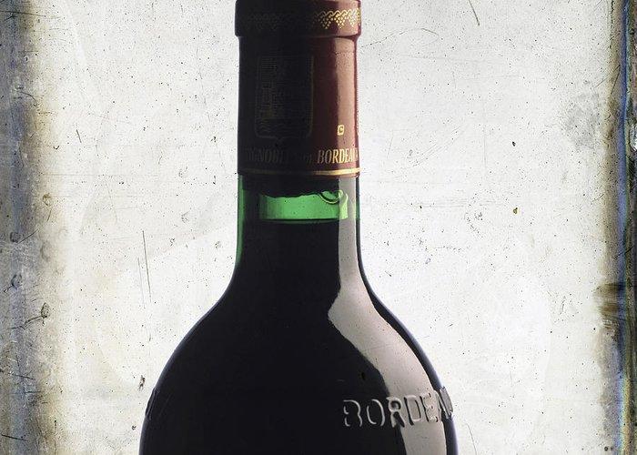 Studio Shot Greeting Card featuring the photograph Bottle Of Bordeaux by Bernard Jaubert