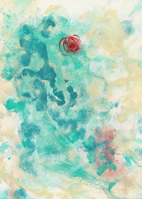 Abstract Greeting Card featuring the painting Bottlerocket by Matt Lambert