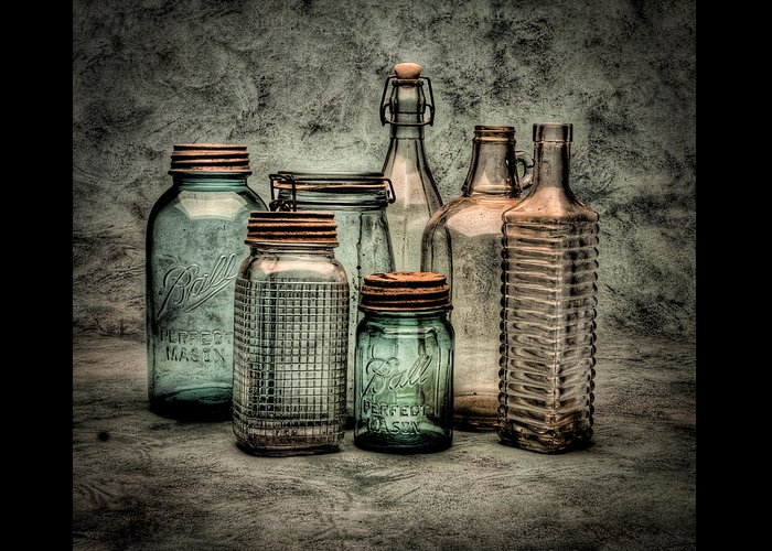 Bottles Greeting Card featuring the photograph Bottles II by Timothy Bischoff