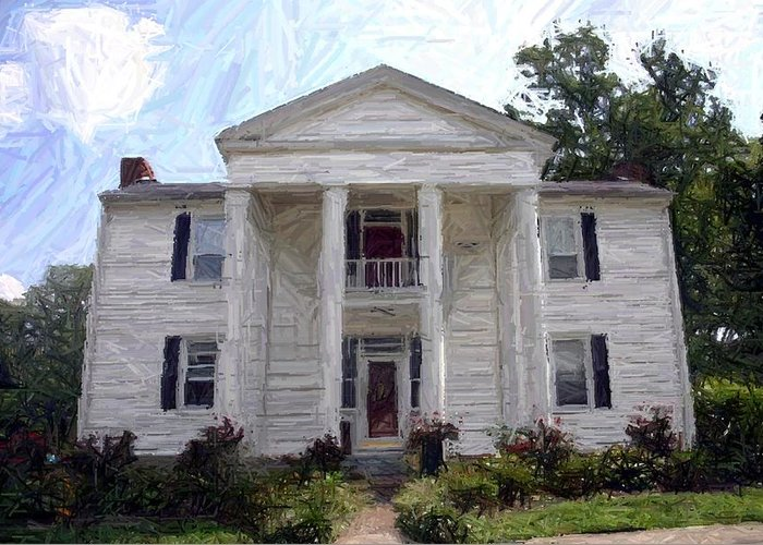 Civil War Greeting Card featuring the photograph Bottom-mcafee-guthrie House - Perryville Ky by Thia Stover