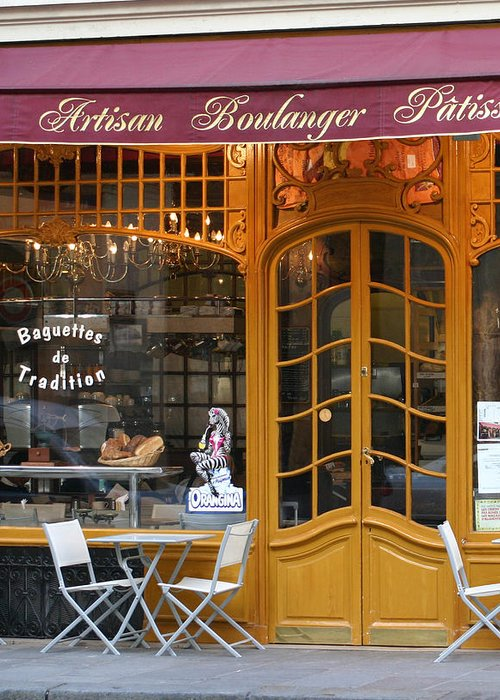 Paris Greeting Card featuring the photograph Boulangerie by A Morddel