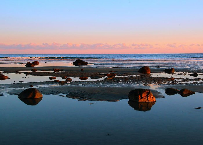 York Greeting Card featuring the photograph Boulder Beach by Andrea Galiffi