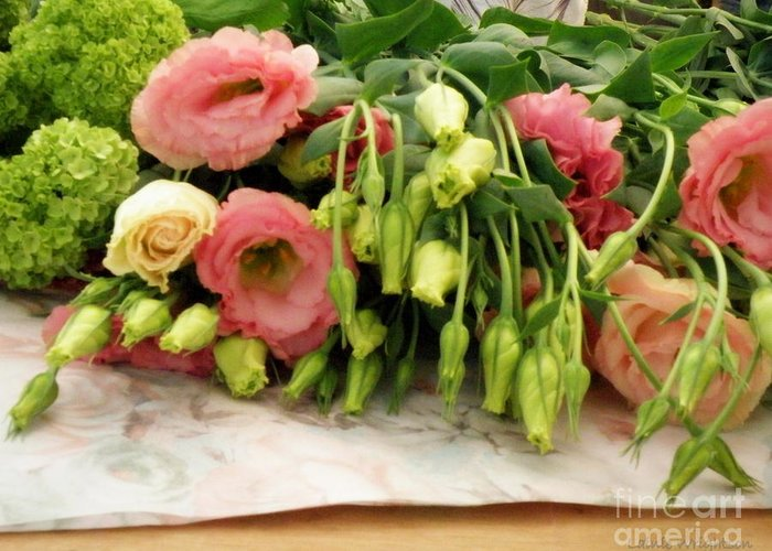 Flowers Greeting Card featuring the photograph Bouquet In The Making by Lainie Wrightson